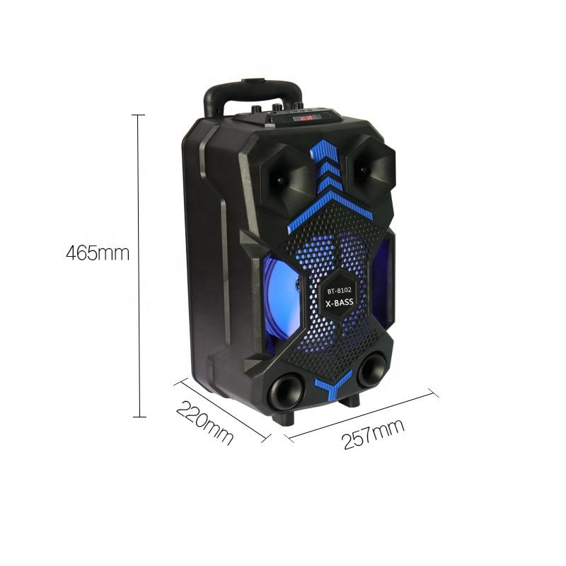 New arrived TF/USB/AUX/FM radio Trolley bluetooth speaker with MIC