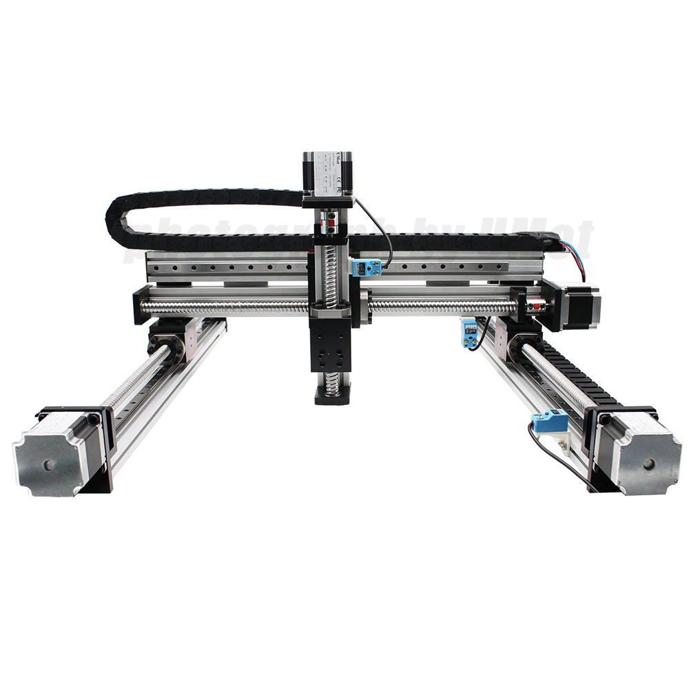 3-axis xyz linear stage cnc gantry robot 50-4000mm 5 axis cnc xyz linear guide linear xy table for robotic arm