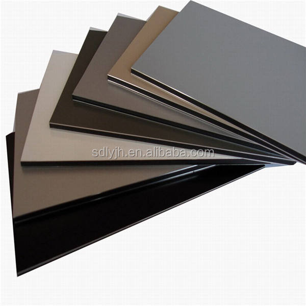 Architectural wall facade 4mm PVDF aluminum composite wall panel acp plates