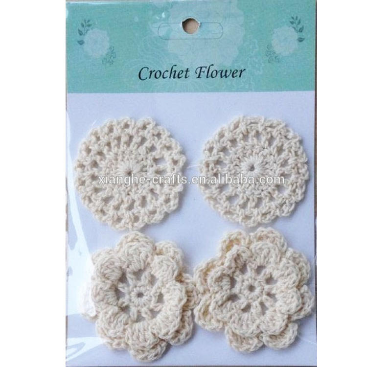 DIY Fabric Crafts Handmade Crochet Flowers for Decoration