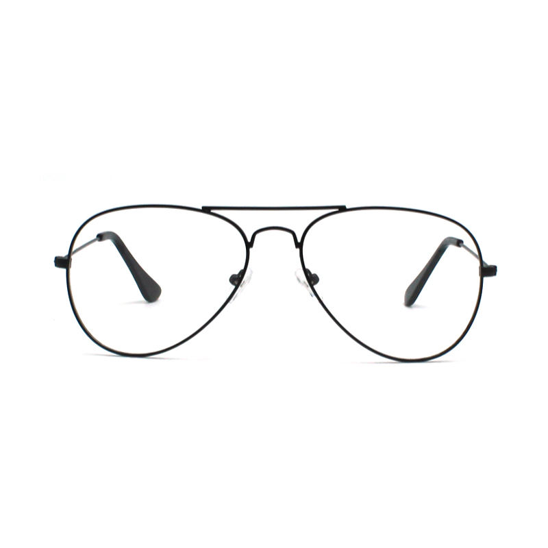 Classic Good Sales Style Big Front Metal Optical Eye Glasses ready goods Eyewear