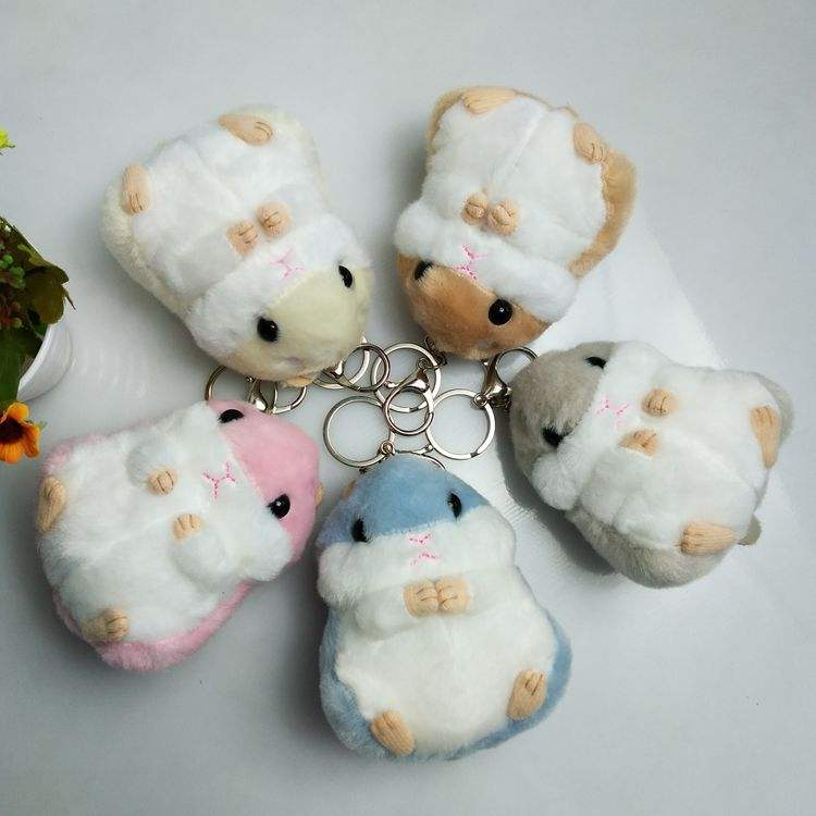 Wholesale 10cm Odorlessness backpack Hanging Plush pendant ,Plush Cute Hamster Keychain