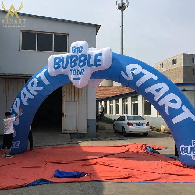 supply design inflatable blue arch with billboard