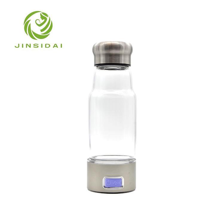Nuevo Tipo 5 V voltaje de hidrógeno del agua botella de vidrio para oficina
