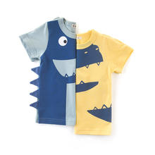 High quality wholesale price low moq cystom tag kids toddler t shirts big manufacturer in China