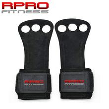 REDPRO Leather Gymnastics Grips 3 Hole Hand Grips with Wrist Support Palm Protection