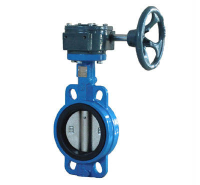 DN40-1200 Cast Iron ductile iron SS304 SS316 ADC12 C954 Body EPDM NBR PTFE VITION seat wafer butterfly valve with worm gear