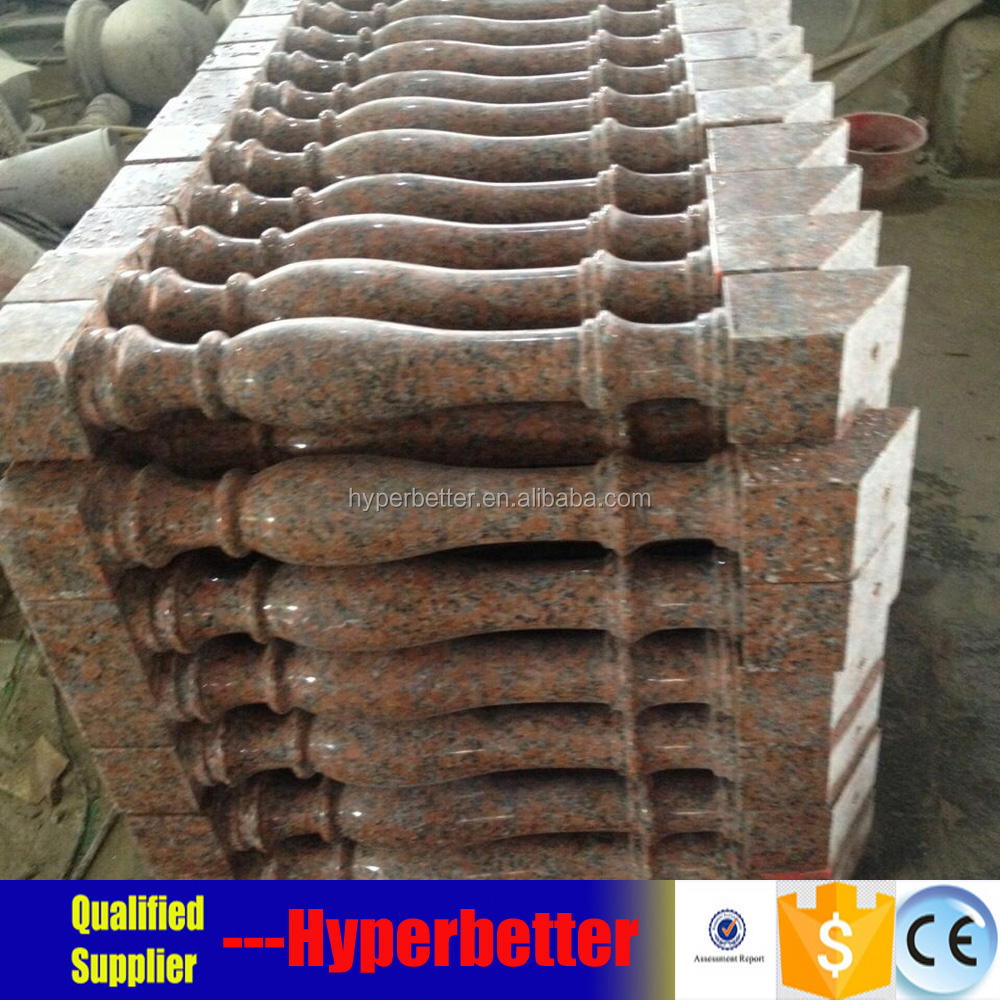 Fresh red granite baluster price