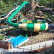 Huge Bowl Fiberglass Water Park Slide For Sale 16m Height 4-6 Raft Rider Slide