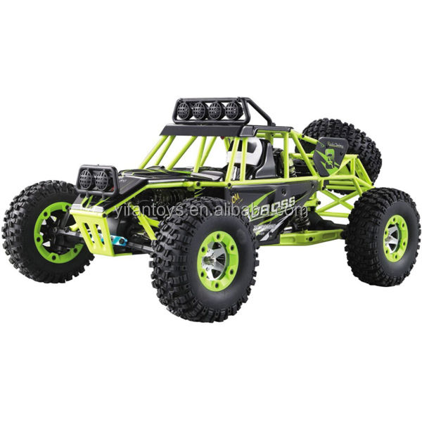 2.4G 1/12 Scale Electric 4WD Remote Control High Speed Car with Brush Motor Truck RC Climbing Car Kit with LED Lights