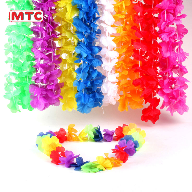 Party Supply Lei Polyester <span class=keywords><strong>Hawaiiaanse</strong></span> Zonnebloem Lei Kunstmatige <span class=keywords><strong>Hawaiiaanse</strong></span> Stof Leis Ketting Voor Voor Partij Decoratie