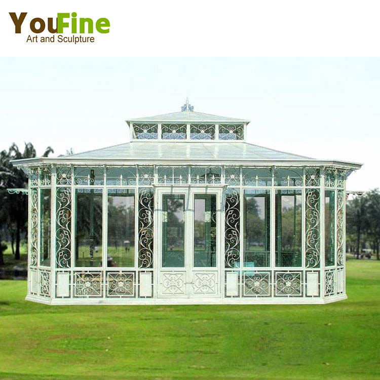 Garden Use Wrought Iron Pavilion Metal Gazebo