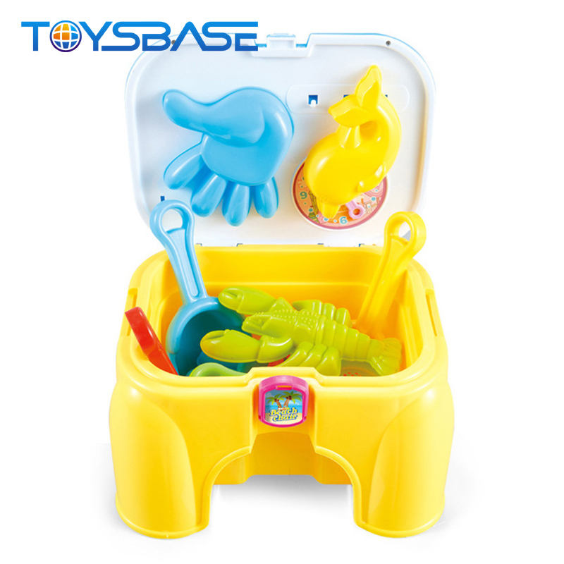 Hot Selling Chair Shape Funny Summer Play Set Beach Plastic Toys
