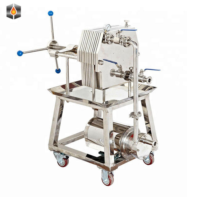 Stainless Steel 304 Material Milk Press Filter Machine / Low Cost Coconut Oil Plate and Frame Filter Press