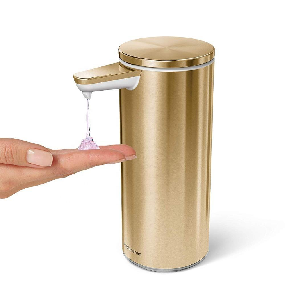 2018 China Suppliers Brass Hotel Touchless Automatic Free Hand Sanitizer Spray Liquid Foam Soap Dispenser with Tank for Hospital