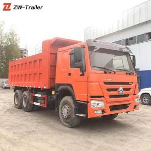 heavy construction machinery 4x2 6x4 dump used trucks for sale