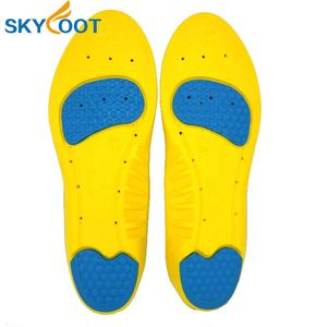 Shock absorption PU011 foot support insoles customized color gel plastic sport insole