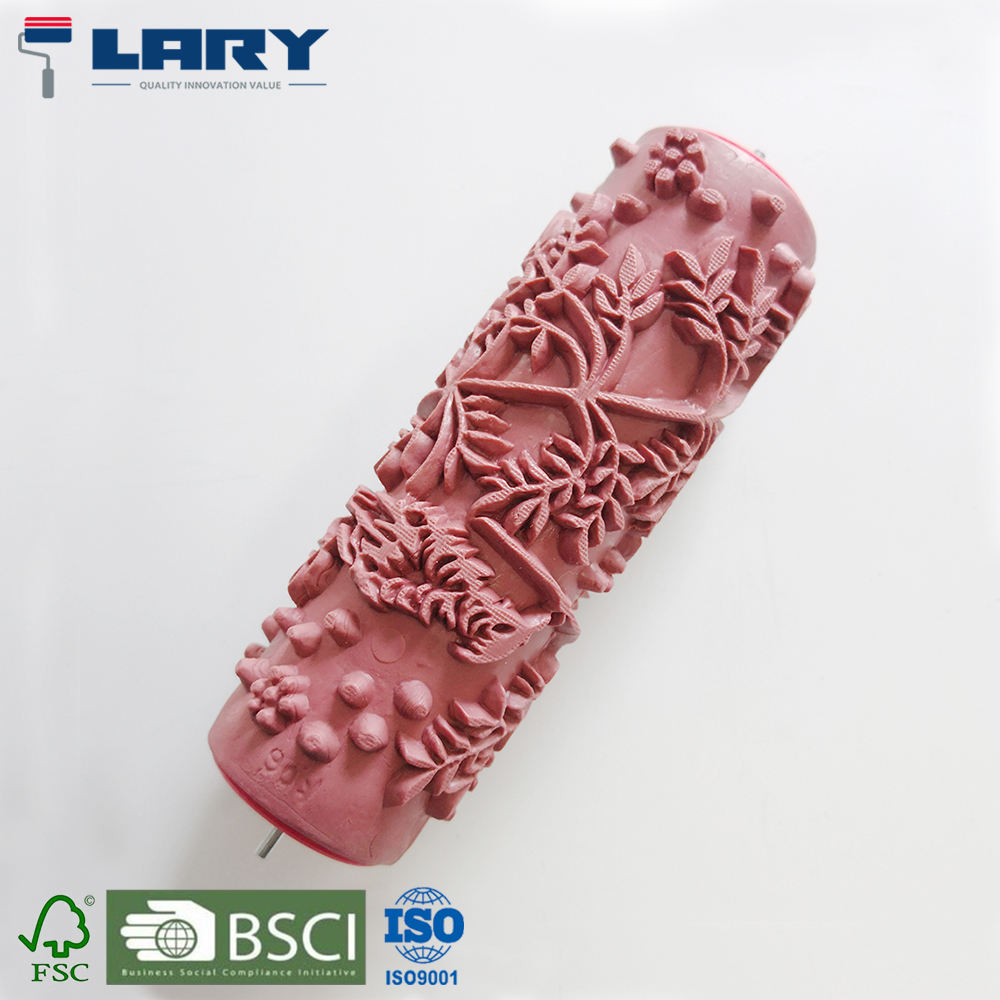 "LARY RO08026 6"" Soft Rubber Decorative Pattern Paint Roller"