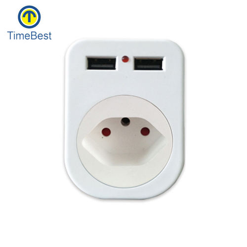 Zwitserland 220 v naar 110 v smart plug mini 2 pin 220 v plug adapter