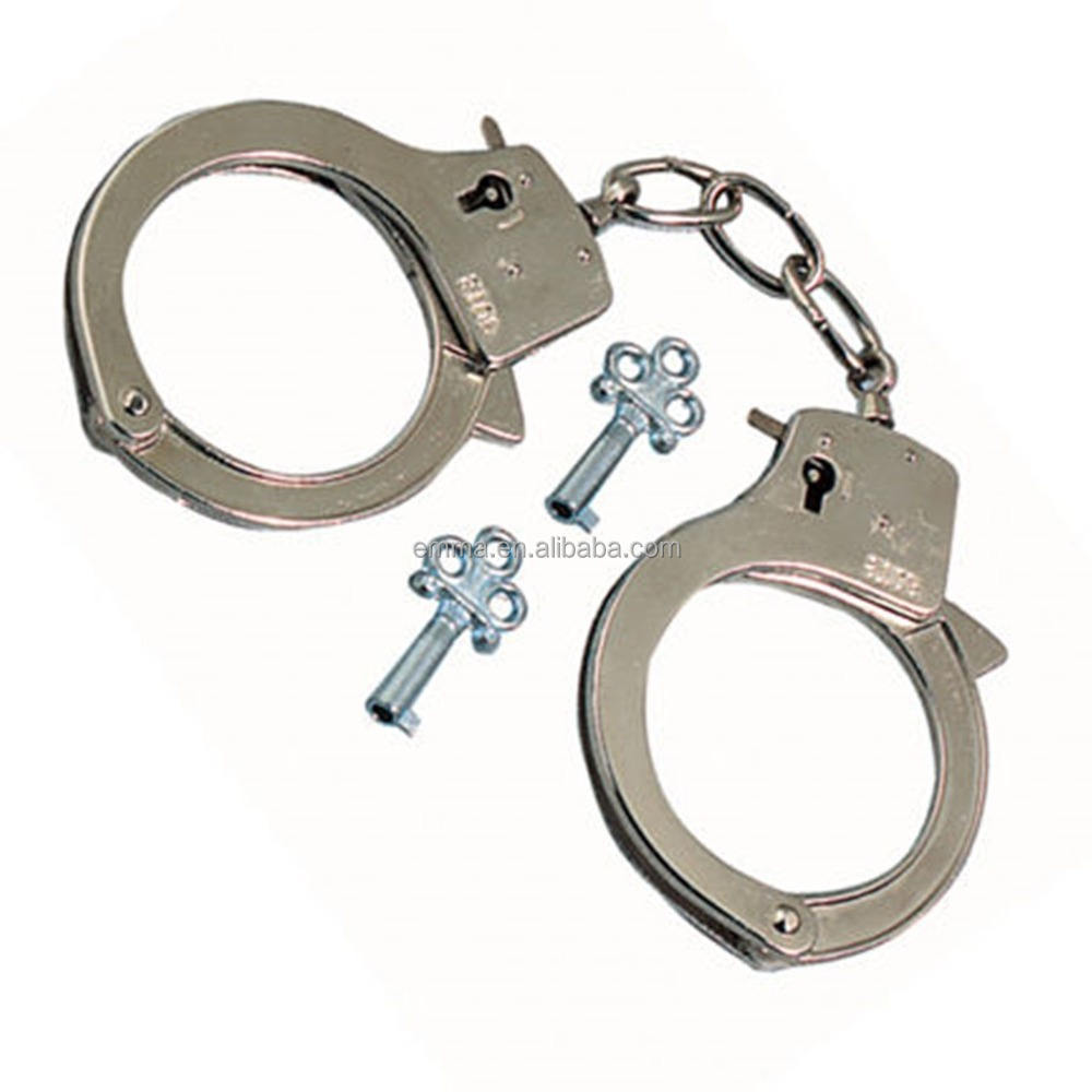 Latest models made in taiwan stainless steel handcuffs with double lock HK12460