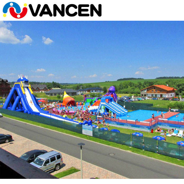 Inflatable aqua park, large inflatable water park equipment for adults, commercial amusement inflatable water park for rental