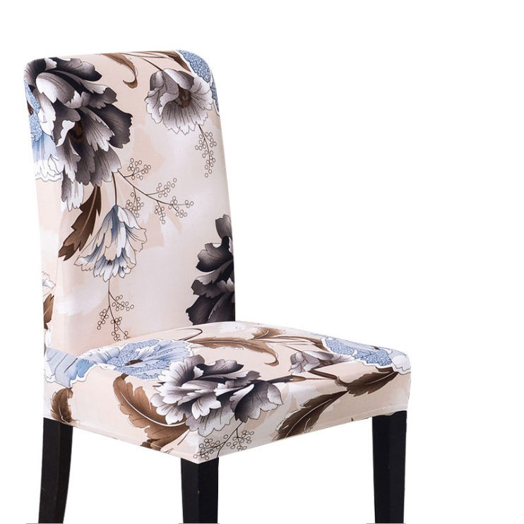 New Floral Print Butterfly Multifunctional Spandex Universal Chair Cover Removable Elastic Seat Dining Stretch Chair Cover