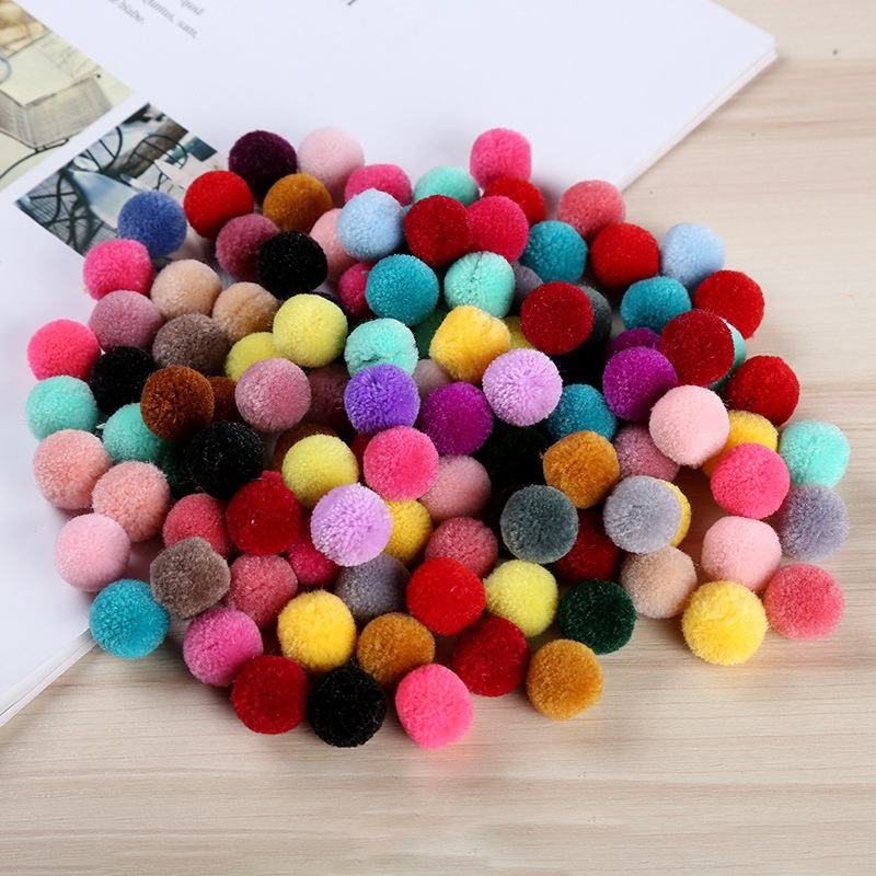 Factory wholesale garment accessories 1.5 - 3.5 cm faux fur cashmere pom pom ball for DIY