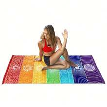 Custom fantasy fresh pattern microfiber beach towel sports towel yoga towel