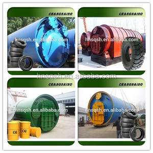 Rubber raw material wate tyre recycling to oil pyrolysis machine CE ISO