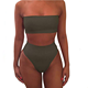 2019 New Design Hot Sale on Amazon Women's Removable Strap Wrap Pad Cheeky High Waist Bikini Set Swimsuit