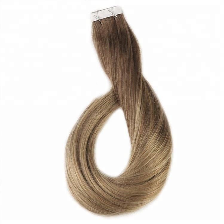 remy indian virgin ombre no tangle Silky Straight tape hair extensions human hair