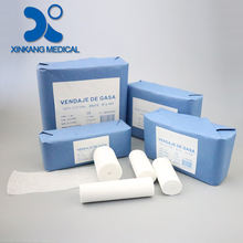 Low price hospital use 100% cotton absorbency gauze bandage