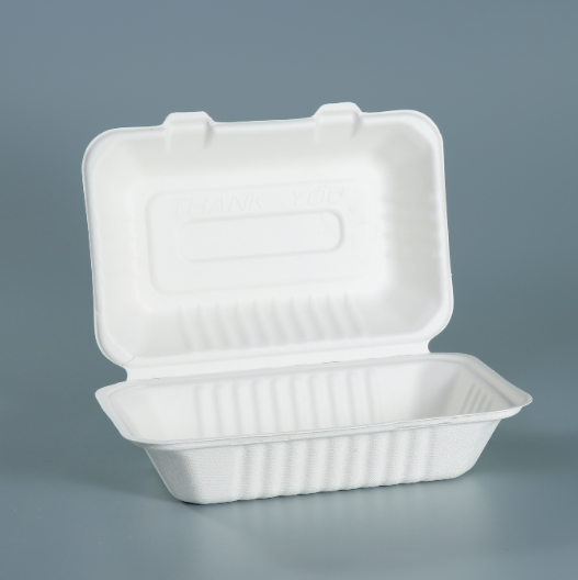 100% compostable restaurant food containers bagasse pulp packaging
