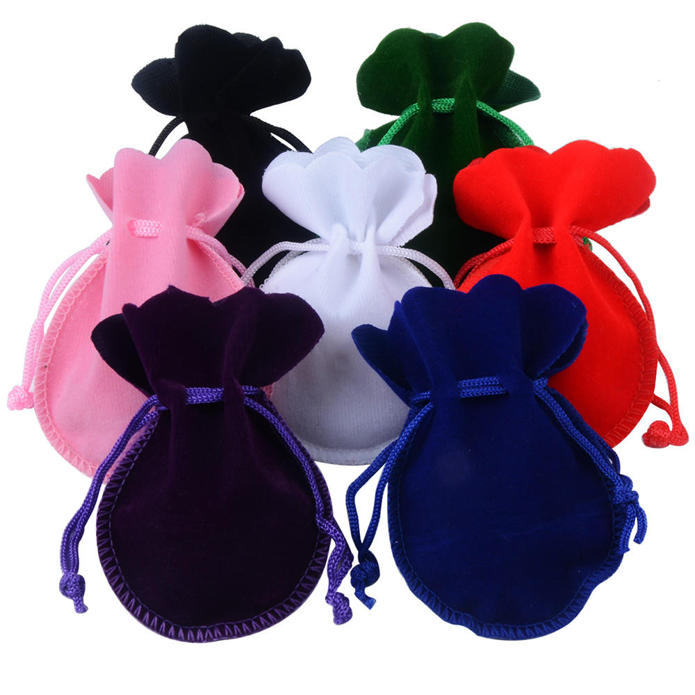 7x9cm Round Shape Jewelry Packing Gift Pouch Velvet Bag For Logo Print