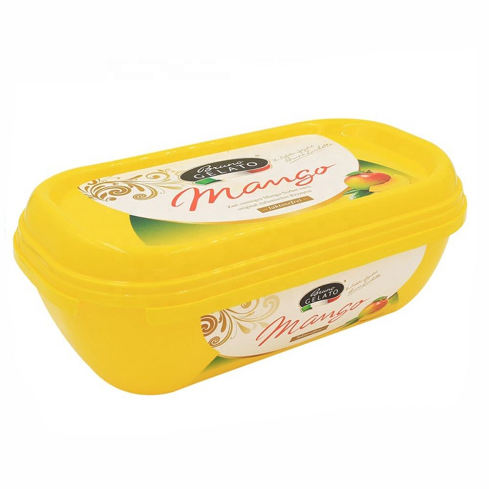 Wholesale eco friendly durable disposable custom logo oval IML margarine packaging plastic butter container