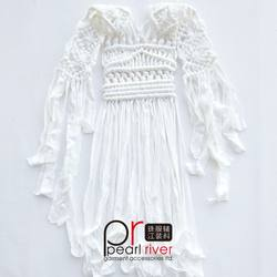 Wholesale knitted macrame braided neck trim piece for garment
