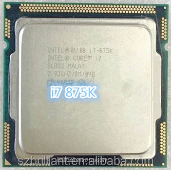 i7 875K 2.93GHz 8M SLBS2 Quad Core Eight threads desktop processors Computer i7-875K CPU Socket LGA 1156 pin