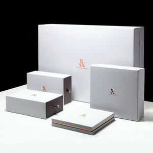 Wholesale custom luxury rigid cardboard drawer book shape gift box with foam insert