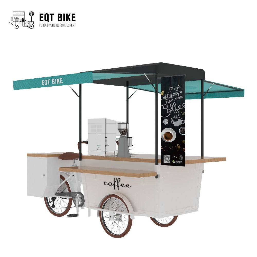 Packaging Customization [ Food Bike ] New Style Street Food Bike China Mobile Fast Food Tricycle Cargo Bike Electric Coffee Bike Vintage Food Truck For Sale