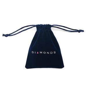Custom Logo Printed Jewelry Packaging Velvet Pouch Bag