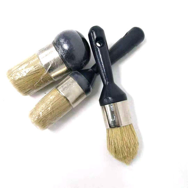 New Style Wood Handle Chalk Round Paint Brush Wax Brush for Furniture