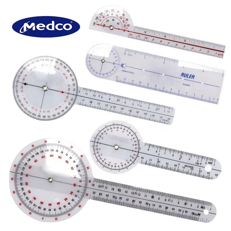 High quality Multi-Functional OEM Servial Design Medical Ruler Goniometer