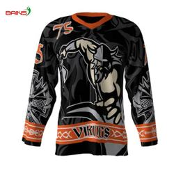 Sublimation authentic custom made breathable ice hockey jerseys