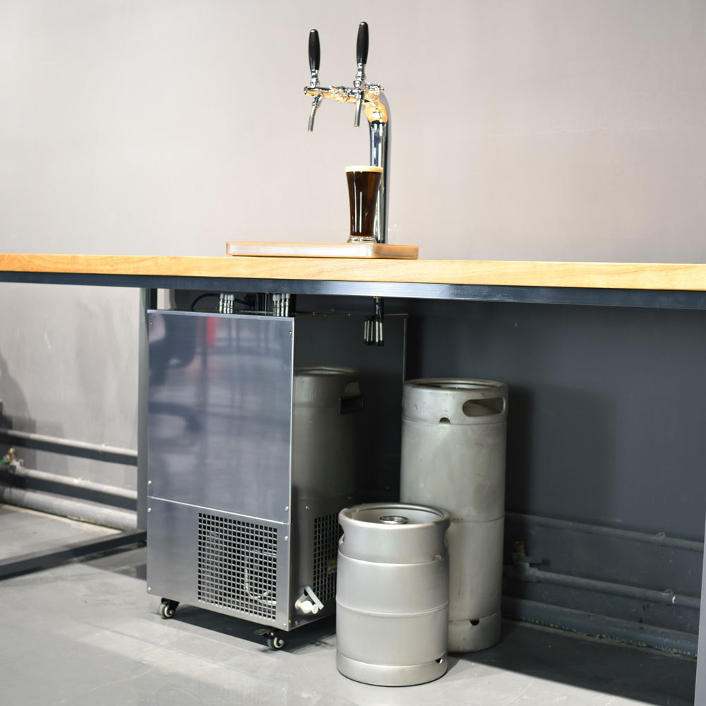 ISO9001 Certified beer cooler kegerator with different beer kegs for undercounter using
