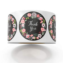 OEM Food Product Logo Label Printing Machine Roll Flower Thank You Sticker