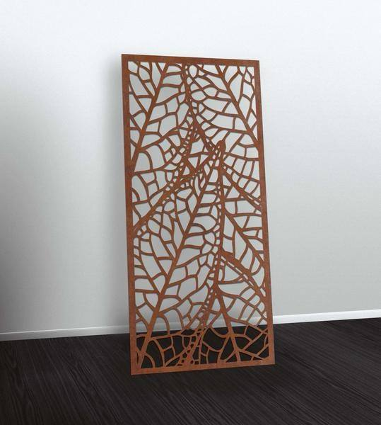 Laser cutting decoration wall screen in corten steel panel