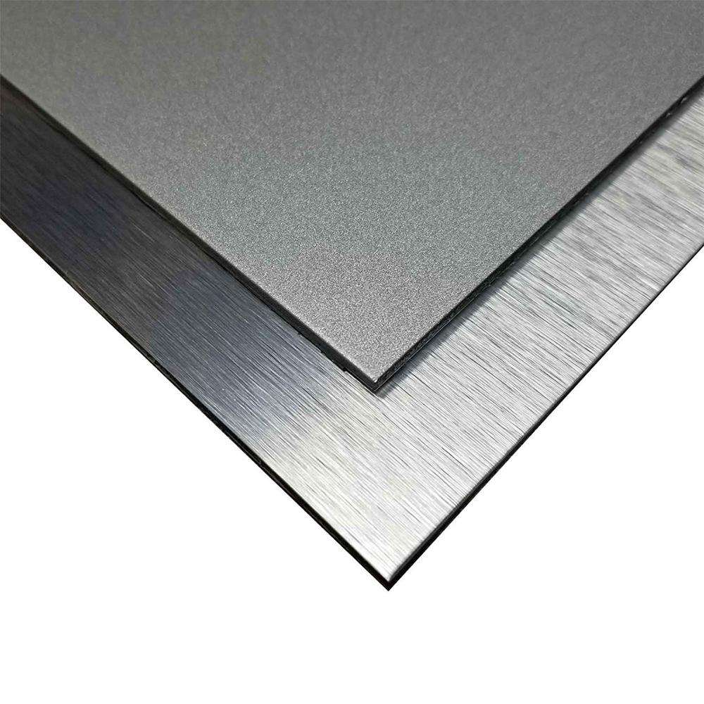 Silver Brushed 2mm 4mm 3mm PVDF PE Aluminum Composite Panel