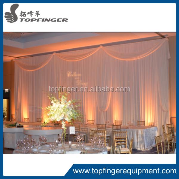 الأنابيب والستارة لوازم الحدث الزفاف الديكور خلفية النسيج