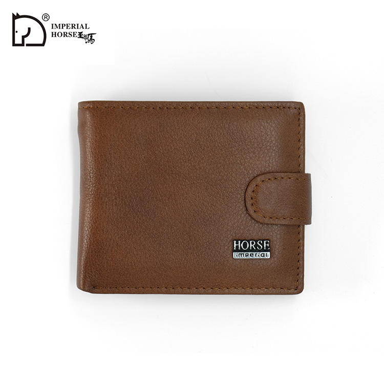 Imperial Horse Men Leather Classic Hasp und Button Wallet #023 2019-1-3