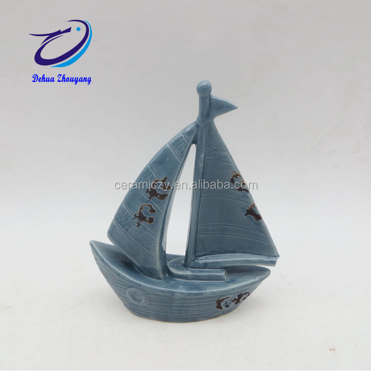 Home decor porcellana modello di barca a vela <span class=keywords><strong>regalo</strong></span> set